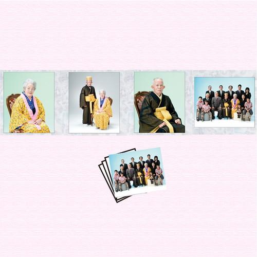 生年祝夫婦と家族コース<br>(写真4ポーズ・衣装1点)<br>期間限定商品